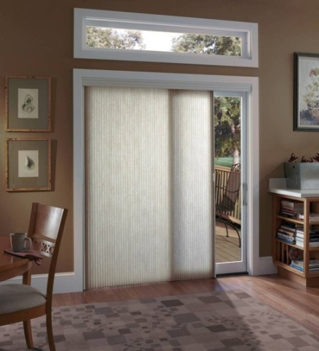 Window Treatment for Sliding Glass Doors Contemporary
