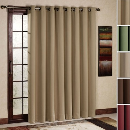 Window Treatment for Sliding Glass Doors Drapes